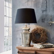 LOBERON Tafellamp Sarcé / antiekzilverkleurig/zwart