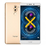 Huawei Honor 6X 32GB Network: 4G Fingerprint Identification 8MP Front Camera + Dual Rear Camera(12MP + 2MP) Dual SIM 5.5 inch IPS Screen Android 6.0 OS Kirin 655 Octa Core 2.1GHz RAM: 3GB Support WLAN BT4.1 GPS 128GB Micro SD Card(Gold)