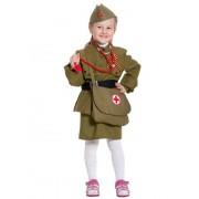 Костюм Медсестра военная, текстиль рост 98-116 5103-XS