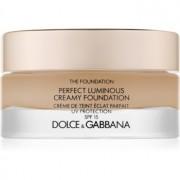 Dolce & Gabbana The Foundation Perfect Luminous Creamy Foundation maquillaje iluminador en crema SPF 15 tono 100 Natural Glow 30 ml