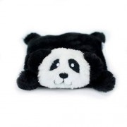 ZippyPaws Squeakie Pad No Stuffing Plush Dog Toy, Negro, Panda