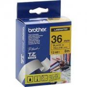 Ламинирана лента Brother TZ-661 Tape Black on Yellow, Laminated, 36mm, 8 m - Eco - TZE661