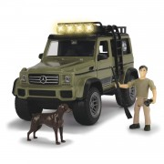 Modellino fuoristrada 4x4 mercedes amg 500 con personaggi set esploratore simba toys dickie playlife