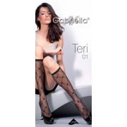 Gabriella - Diamond patterned knee highs Teri 01