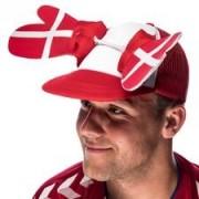 Denemarken Klappende pet - Rood/Wit