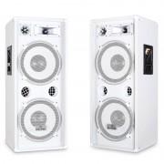 Malone Чифт PW-2222 3 посочни DJ PA тонколони - бели (PL-10003494-10003494)