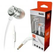 Auriculares com Microfone JBL T290 Pure Bass - Prateados