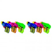 Toymytoy 6Pcs Plastic Water Gun Toy Pistol for Kids Watering Game Random Color