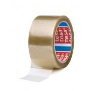 Banda adeziva Tesa, 48 mm x 66 m, transparenta, adeziv din cauciuc natural