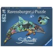 Puzzle Contur Delfin, 862 Piese