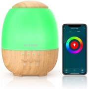 Umidificator Smart Wi-Fi ultrasonic + lampa LED RGB, BlitzWolf BW-FUN3, 400mL, compatibil Amazon Alexa si Google Assistant