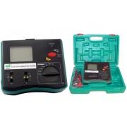 HOLDPEAK 5104 Digitális szigetelési ellenállás mérő 250-2500VAC 0.1Mohm-20Gohm fázissorrend hordtáska.