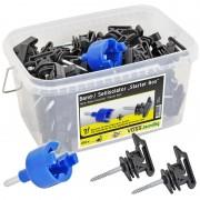 100x VOSS.farming Starter Box, Tape & Rope Insulators + Drill Chuck + Box