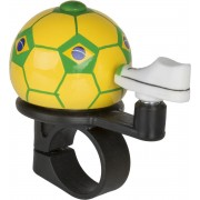 M-Wave Voetbal Mini - Fietsbel - 38 mm - Brazilië