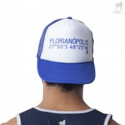 CA-RIO-CA Florianopolis Geo Trucker Hat Royal Blue/White CRC-H1053