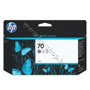 Мастило HP 70, Grey (130 ml), p/n C9450A - Оригинален HP консуматив - касета с мастило