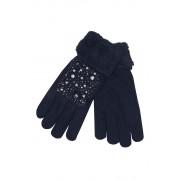 Gloves Lady dámské rukavice s kamínky tmavě modrá
