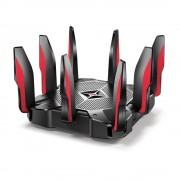 TP-Link Archer C5400X Router Wireless Banda Tripla Gigabit Ethernet Nero Rosso