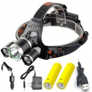 Rechargeable Zoomabl Led Headlight Head Lamp Light Torch Flashlight - 32A
