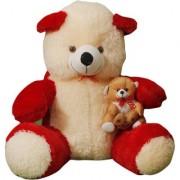 MS Aradhyatoys Sitting Teddy Bear Soft Toy Red 80cm
