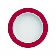 Ornamin Assiette Mélamine ergonomique, ROUGE