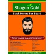 100 Natural Black Henna Beard Dye for Men 100gm - Chemical Free Dye