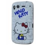HTC Desire S Hello Kitty Back Case - HTC Hard Case (White/blue)