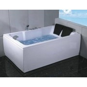 items-france SALUSA2 - Baignoire 2 places hydromassante 185x120x66