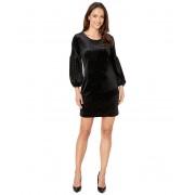 Nally Millie Velvet Glitter Bubble Sleeve Dress Black