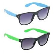 HRINKAR Men's Grey Mirrored Wayfarer Sunglasses