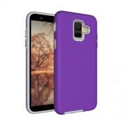 Anti-slip Armor Texture TPU + PC Case for Samsung Galaxy A6 (2018)(Purple)