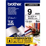 Brother Black on White Colour Tape 9mm