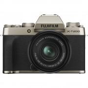 Fujifilm X-T200 Aparat Foto Mirrorless 24.2 MP Kit cu Obiectiv 15-45mm Champagne Gold