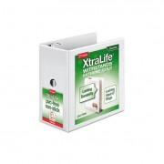 "Xtralife Clearvue Non-Stick Locking Slant-D Binder, 6"" Cap, 11 X 8 1/2, White"