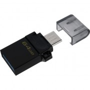 Memorie USB KINGSTON DataTraveler MicroDuo3 G2 64GB, USB 3.2, Negru