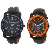 RIDIQA Black Strap White Dail Combo Watches for men's combo RD-113-117