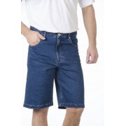 Jeans Shorts, bluestone, mit 2 Reißverschluss Gesäßtaschen, Gr.54