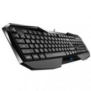 Клавиатура AULA EN Be Fire, гейминг, подсветка, черна, USB, лазерно гравирани символи, подсветка в три различни цвята с 4 нива на регулиране на яркостта