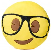 Emoji Cushion - Geek Face