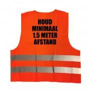 Bellatio Decorations 10x stuks oranje veiligheidsvest 1,5 meter afstand werkkleding voor volwassenen