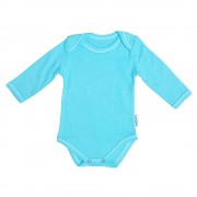 Body bleu din bumbac pentru bebelusi