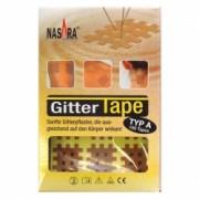 NASARA Spiral Tape, křížový tejp (Cross Tape), béžový, typ A, 3x4-3mm