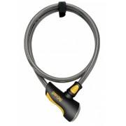 Onguard kabelslot Akita 120 cm x 12 mm grijs/zwart