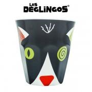 Les Deglingos Kubek dla dzieci z melaminy Kot Charlos,