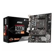 MSI Main Board Desktop A320 (SAM4, 2xDDR4, PCI-Ex16, PCI-Ex1, USB3.2, USB2.0, SATA III, M.2, HDMI, DVI-D, GLAN) mATX Retail (A320M-A_PRO_MAX)