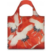 LOQI Woman´s Haori With White and Red Cranes Shopper