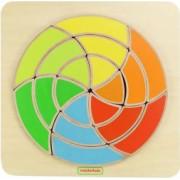 Joc creativ Mozaic circular din lemn +18 luni Masterkidz