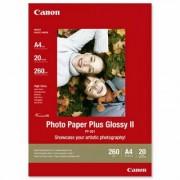 Canon Photo Paper Plus Glossy II PP-201 21x29.7cm A4 20 listova foto papir za ispis fotografije Gloss 265gsm ISO92 0.27mm A4 20 sheets PP201A4 BS2311B019AA BS2311B019AA