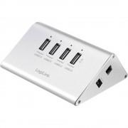 4-portni USB 2.0 hub UA0224 LogiLink srebrna