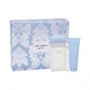 Dolce&Gabbana Light Blue zestaw Edt 100 ml + Krem do ciała 75 ml + Edt 75 ml dla kobiet